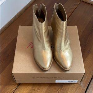 Matisse gold booties 7.5